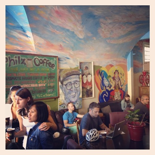 #sanfran coffee scene (Taken with Instagram at Philz Coffee)
