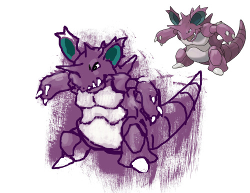 40 minutes while watching Doctor Who. Nidoking is a baller and I've always wanted to have it on my team in the games, but I never have.