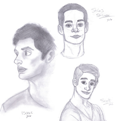 Some teen wolf sketches :) i really cant draw Scott….