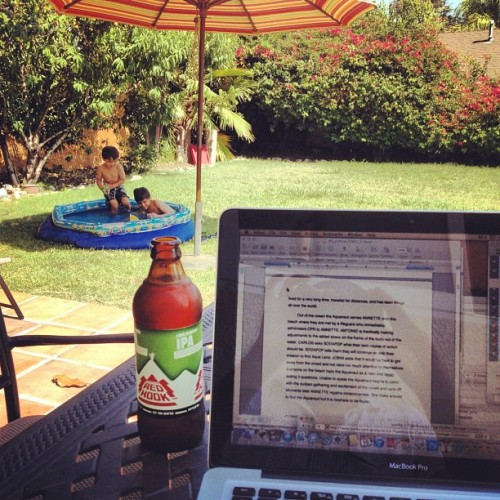 Writing outdoors today (Taken with Instagram)