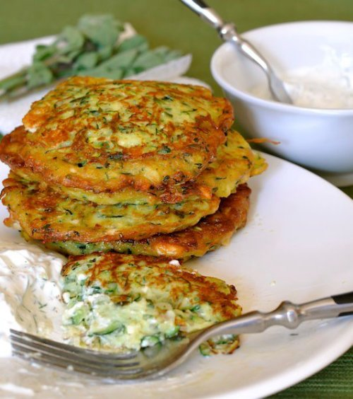 iyfit:  cravewhatsnatural:  Zucchini Fritters… Find the recipe here… http://kitchenster.com/vegetarian-recipes/courgette-fritters-with-yogurt-dip/  One of my all-time favorite foods!!  Seconded! And healthy to boot.