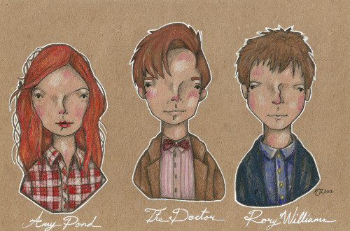 Done as a commission: The Eleventh Doctor and the Ponds.