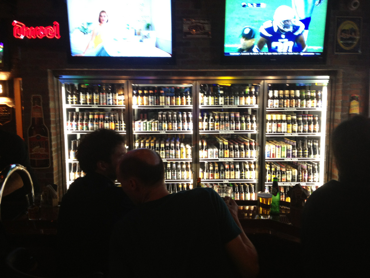 The new World of Beer on Brady is simply amazing. Over 500 beers! This photo isn't even half of them.