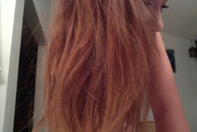 guys look how light my hair is it just fades all by itself i wanna do all of it like this like a strawberry blonde ok yes