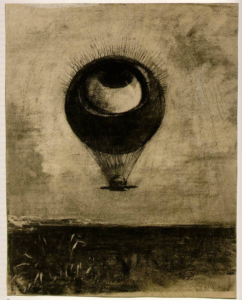 jahsonic:  The Eye Like a Strange Balloon Mounts Toward Infinity by Odilon Redon.