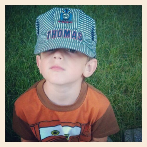 #brother #cute #Thomas #trains (Taken with Instagram)