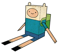 "darkfantasyrecords:  Finn ""Papercraft/Foldable"" Here"