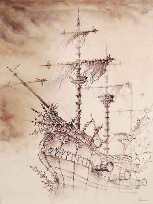 tracyfragments:  Haunted_Ship by *GrimDreamArt