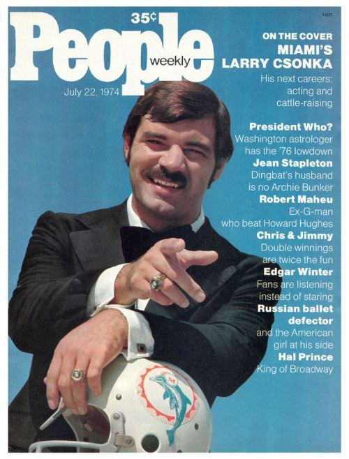 amylomein:  Buy me anything with Larry Csonka on it. I'll PAY for it!