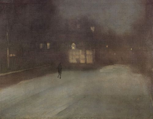 peth:  snowce:  James Abbott McNeill Whistler, Nocturne in Grey and Snow, Chelsea Snow, 1876  mmmmmmmmmmmmmmm
