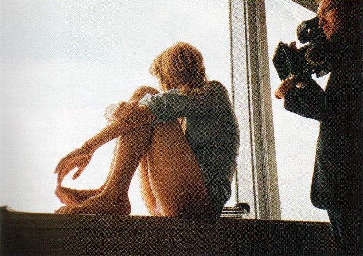 Scarlett Johansson during the filming of Lost in Translation