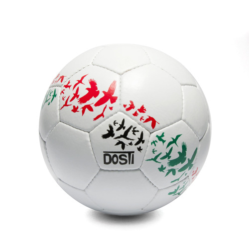 "Doves in Flight Fair Trade Soccer Ball - $45  Available from Global Goods Partners.  ""Afghan women have been renowned for centuries for hand needlework. Now the women of DOSTI, meaning 'friendship' in Dari, have harnessed that heritage to handcraft club-quality fair trade soccer balls. Each ball is sturdily hand-stitched using 32 panels of highest quality synthetic leather producing soccer balls with superior bounce and shape.""  For any of you all out there getting the itch to hit the field as the Euro Premier League ramps back up…  Go Chelsea."