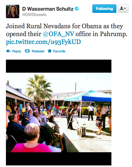 @DWStweets: Joined Rural Nevadans for Obama as they opened their @OFA_NV office in Pahrump. pic.twitter.com/u93FykUD