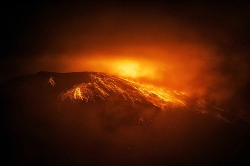 Tungurahua volcano erupts in Ecuador (Photo: Jaime Echeverria / EPA)    The Tungurahua volcano is seen from Juive Grande, Ecuador, early Aug. 19. The Tungurahua volcano erupted with explosions and tremblings described as volcanic activity in the range between moderate and high. Reportedly the region was put on an orange alert.  Read the complete story.