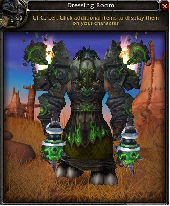 wowfashionpolice:   This is my shaman's dream transmog. I'll probably never get it because it's bits and pieces from Ulduar and nobody ever does that place anymore.  get a group going to get your stuff! those shoulders are the best!   you shouldn't give up on it FOLLOW YOUR DREAMS !