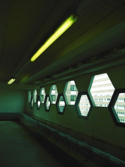 scavengedluxury:  Hexed car park. Nottingham, August 2012.