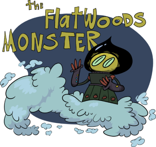 drawingstupidmonsters:  Day 7: The Flatwoods Monster I really like the flatwoods monster. America really dropped the ball with that. America, stop letting japan take all your cool monster stuff. Come on.