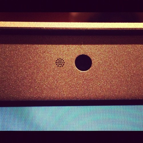 Apple MBP hardware details - I love the tiny radial pattern for the web cam microphone , #apple  (Taken with Instagram)