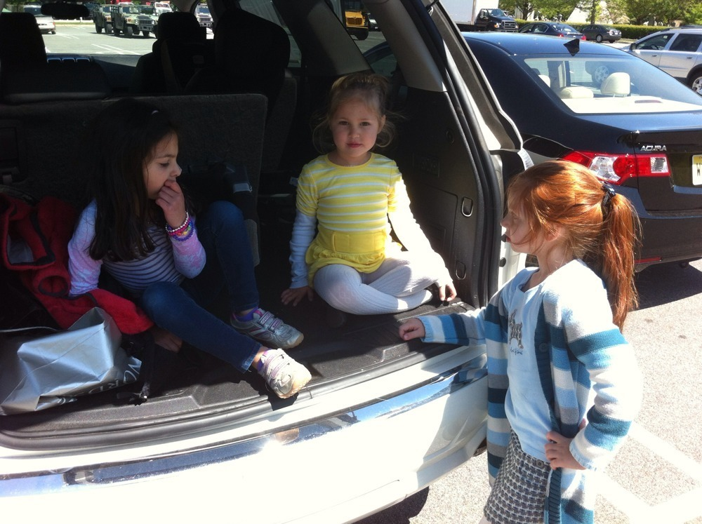 Kid tailgating. From left to right: perturbed, poise, and spunk.