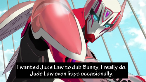 I wanted Jude Law to dub Bunny, I really do. Jude Law even lisps occasionally. Submitted by anon