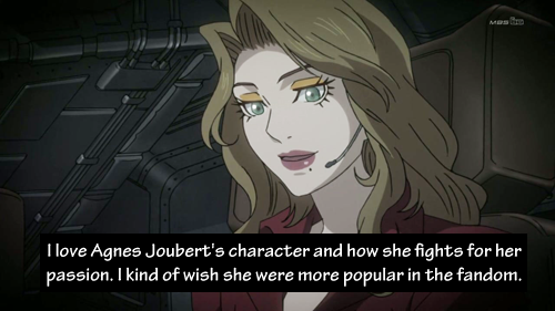 I love Agnes Joubert's character and how she fights for her passion. I kind of wish she were more popular in the fandom. Submitted by mind-crayon