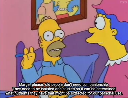 Homer explains why we should value the elderly in our society