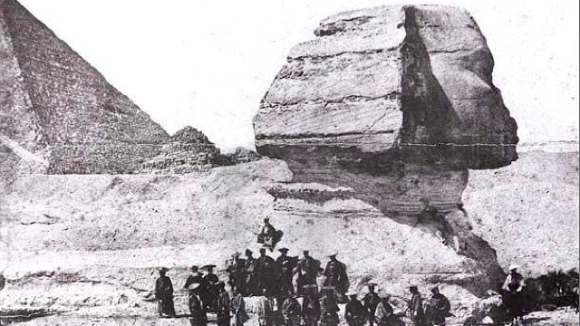 collective-history:  1864, Samurai photographed in front of Egypt's Sphinx