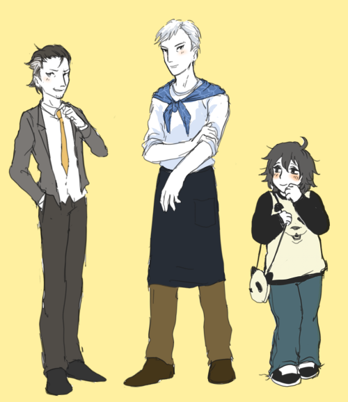 ohmygodhand:  jillian mentioned shirokuma cafe gijinkas and i wanted to try some. i've only seen a few episodes since it doesn't really keep me interested but it's still really cute. uhh yeah goodnight