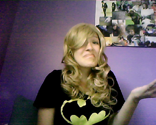 Okay guys so I have a little problem… My Fem!Dirk wig is quite a bit more curly than I wanted it to be ((I wanted it kinda wavy)) but this was the only wig that was cheap enough and would be able to ship in time for the con. If you have any tips on how to make it less curly that would be great!!! And if you think it looks fine the way it is, please tell me!!! That way I won't be too worried about it. Suggestions???