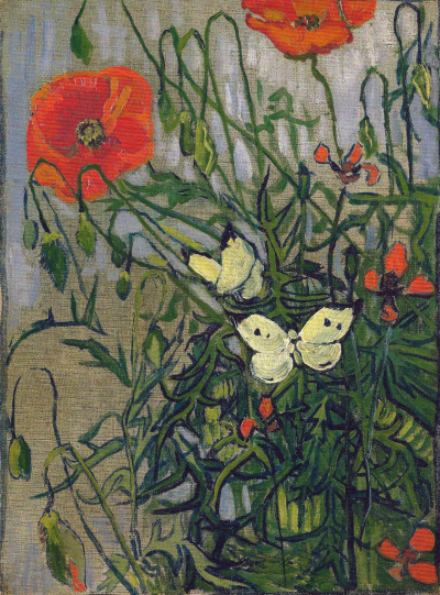 alongtimealone:  Vincent van Gogh - Butterflies and Poppies, 1890 at Van Gogh Museum Amsterdam Netherlands (by mbell1975)