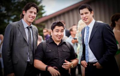 Ran In to James Neal and Sidney Crosby of the Pittsburgh Penguins at a Wedding I was working at this summer.   PHOTO - SHANNON LEPERE