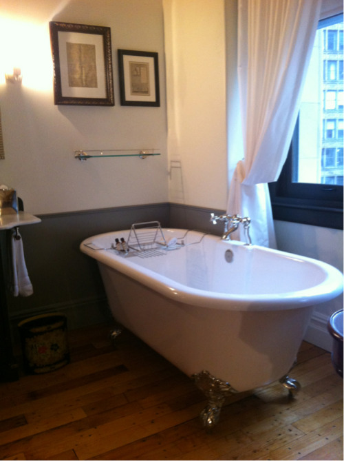 Loving my tub at the NoMad hotel. Very Downton Abbey.