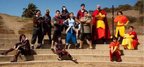 ruffleshuffle:  Brian posted the photos he took at the Korra photoshoot! Here's our full group for that day.