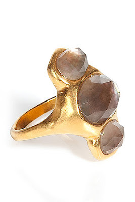 Silk Gold Smoky Quartz Doublet Ring by Alexis Bittar from Spinning the Sale Rack at StyleBop - Spin Two!