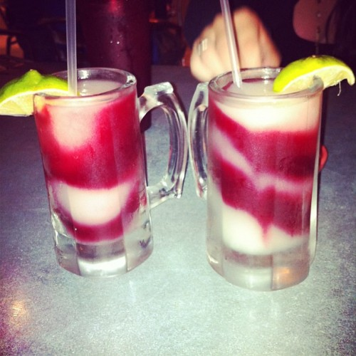 Frozen Marg with a Sangria Swirl? Delish @victoriamcgrath  (Taken with Instagram at Ruby Tequila's)