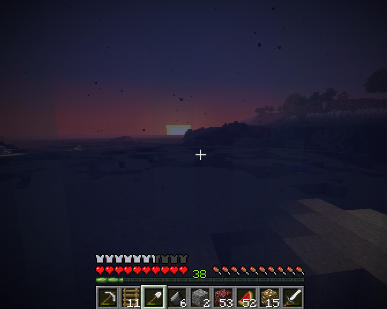 Underwater sunrise in minecraft,  building a new underwater house/clay mine facility.