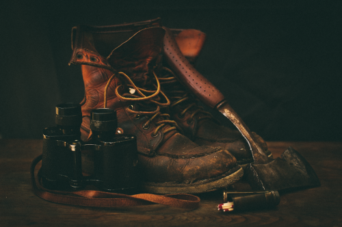 Boots, Hatchet and Binocular