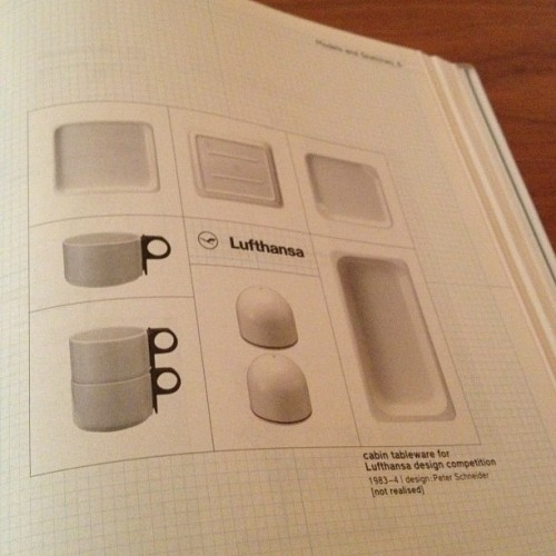 Less and More, Dieter Rams on @Lufthansa cabin tableware. #design meets #aviation.  (Taken with Instagram)