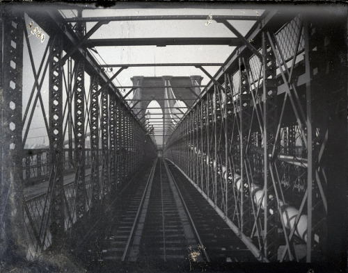 Bridge from Train, Brooklyn, NY, ca. 1872-1887. Photograph: George Bradford Brainerd (by Brooklyn Museum)