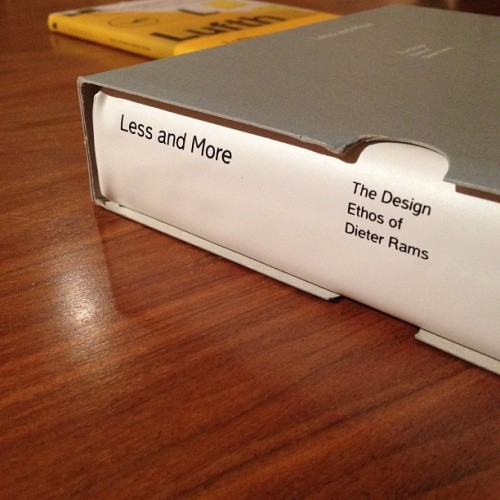 Less and More, the design ethos of Dieter Rams. #design #book.  (Taken with Instagram)