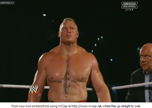 And the winner is… BROCK LESNAR!!1