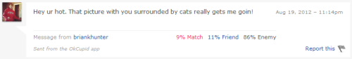 reactivated my okcupid for friend purposes.  this was one of the first messages i received.