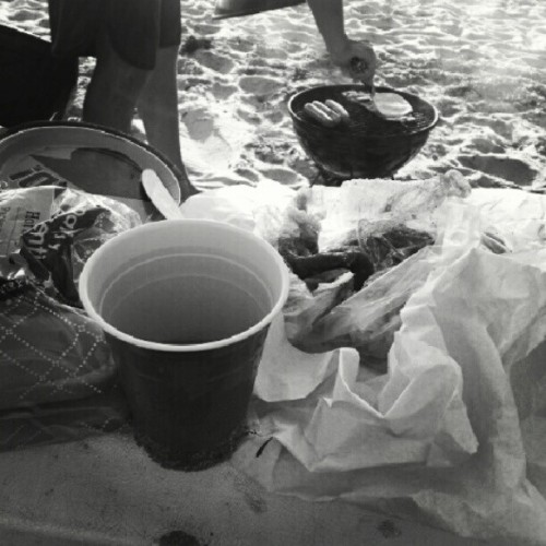 beach side sippin  (Taken with Instagram)