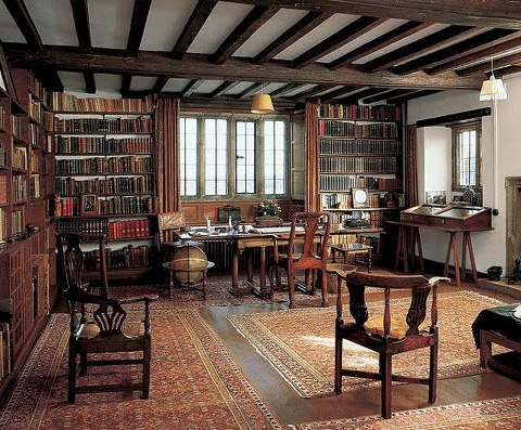 Rudyard Kipling's library at Bateman's, East Sussex