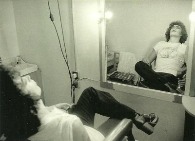collective-history:  Tim Curry behind the scenes of The Rocky Horror Picture Show