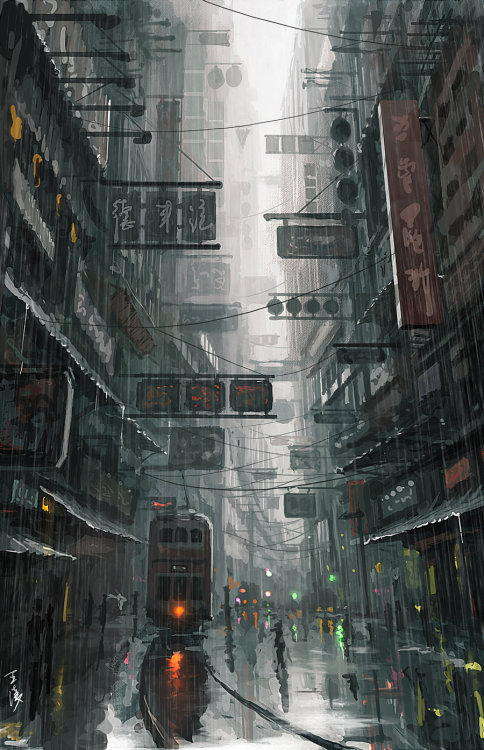illusartion:  hongkong by ~wlop