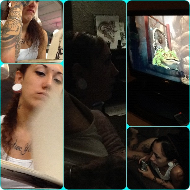The #Wife #tattoos #tattoo #woman #ps3 #Alice #madness #tattooedmom #breaktime (Taken with Instagram)