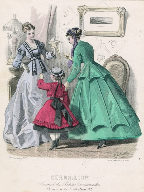 April fashions, 1867 France, Cendrillon