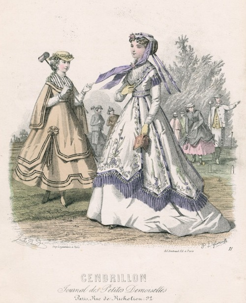 September fashions, 1867 France, Cendrillon