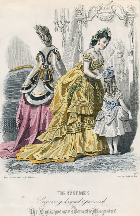 oldrags:  January fashions, 1871 England, Englishwoman's Domestic Magazine